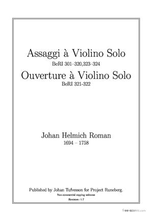 Sheet Music Assaggi and Ouvertures
