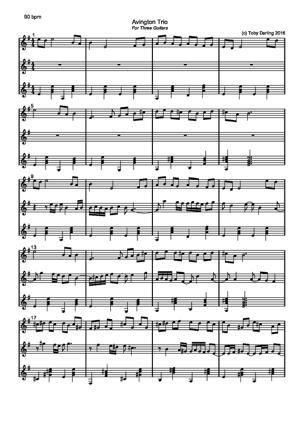 Sheet Music Avington Trio