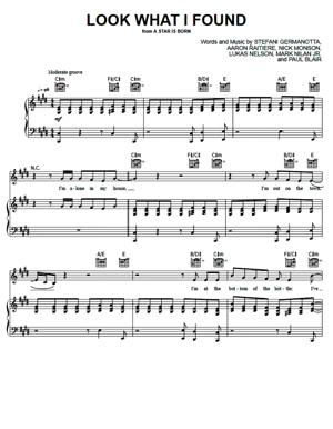 Sheet Music Lady Gaga (From A Star Is Born) - Look What I Found