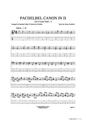 Sheet Music Pachelbel's Canon