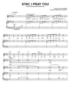 Sheet Music Anastasia - Stay I Pray You