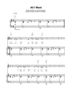 Sheet Music Kodaline - All I Want