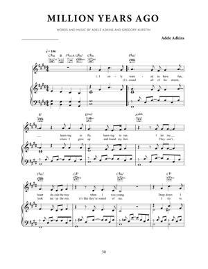 Sheet Music Adele - Million Years Ago
