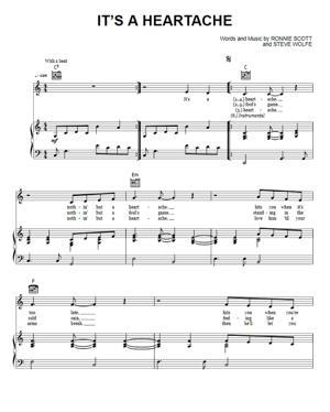 Sheet Music Bonnie Tyler - It's A Heartache