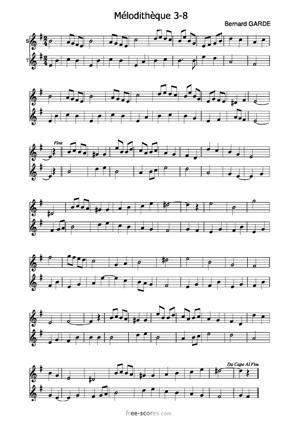 Sheet Music Mélodithèque 3-8