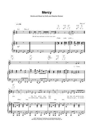 Sheet Music Duffy - Mercy
