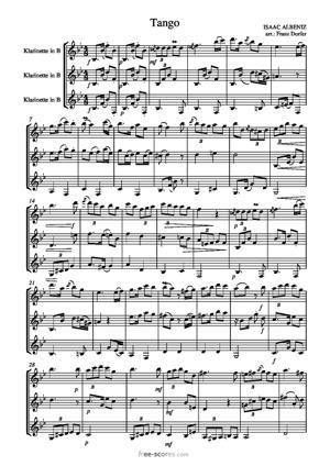 Sheet Music Tango op. 165