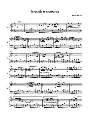 Sheet Music Serenade for someone