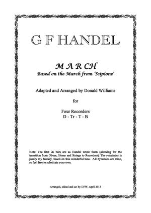 Sheet Music March from Scipio