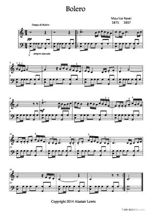 Sheet Music Boléro