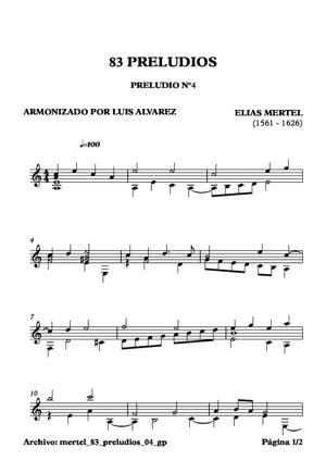 Sheet Music mertel 83 preludios 04 gp