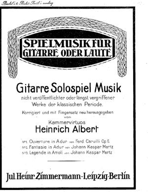 Sheet Music Elegie and Fantasie (2 concert pieces)