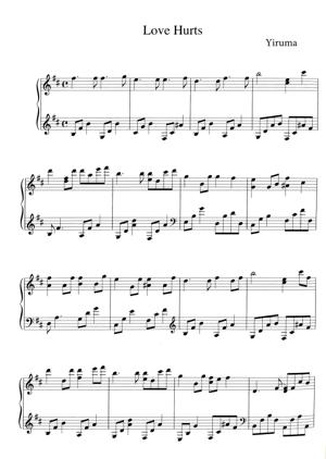 Sheet Music Yiruma - Love Hurts