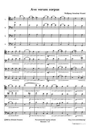 Sheet Music Ave verum corpus