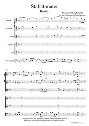 Sheet Music Stabat Mater