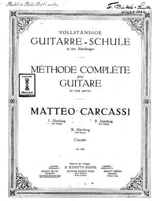 Sheet Music Vollständige Schule für Gitarre (French / German)