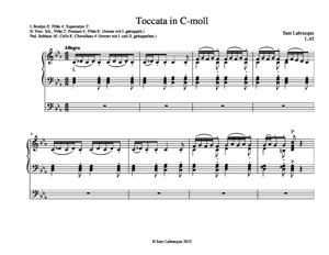 Sheet Music Toccata in C-moll
