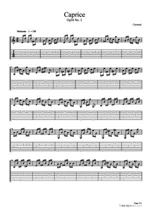 Sheet Music Caprice from Op 26 No. 2