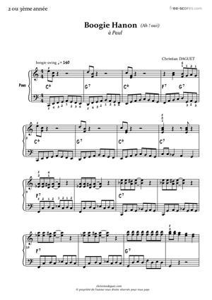 Sheet Music Boogie Hanon