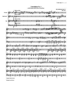 Sheet Music Concertpiece No. 1