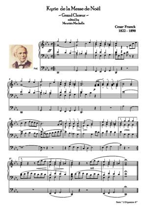 Sheet Music Kyrie de la Messe de Noël