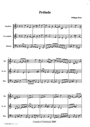Sheet Music Prélude et Fugue pour trois anches