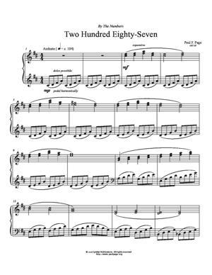 Sheet Music Two Hundred Eighty-Seven