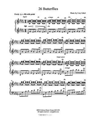 Sheet Music 26 Butterflies