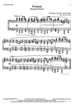 Sheet Music Prelude: Funeral March