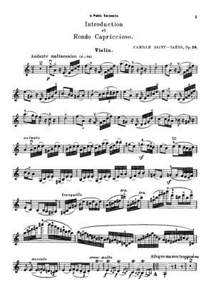 Sheet Music Introduction et rondo capriccioso