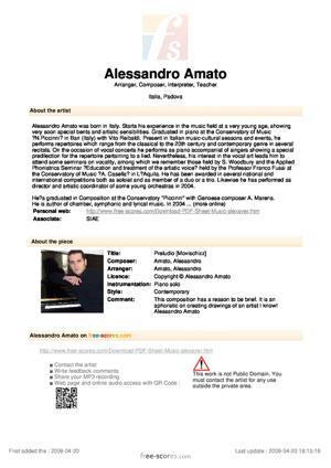 Sheet Music Preludio