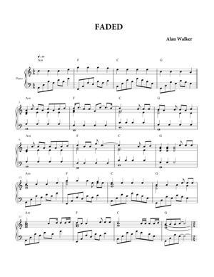 Sheet Music Alan Walker - Faded