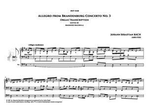 Sheet Music Allegro from Brandenburg Concerto n.3 (BWV 1048) - Organ transcription