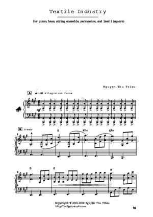 Sheet Music Textile industry