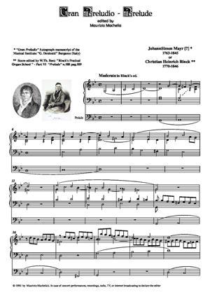 Sheet Music Gran Preludio [in g minor]