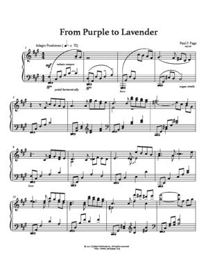 Sheet Music From Purple To Lavender