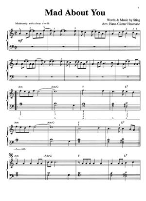 Sheet Music Sting - Mad About You