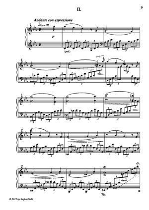 Sheet Music Sonata (in D major, II. mov.)