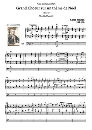 Sheet Music Grand Choeur sur un thème de Noël - Pièce posthume (1905)