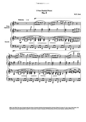 Sheet Music 5 Four-handed Pieces No. 5