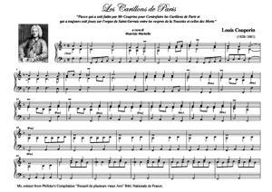 """Sheet Music Les Carillons de Paris (from Philidor's Compilation """"Recueils de plusieurs Airs"""" Bibl. Nat. de France)"""