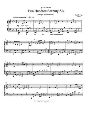 Sheet Music Through A Dark Wood