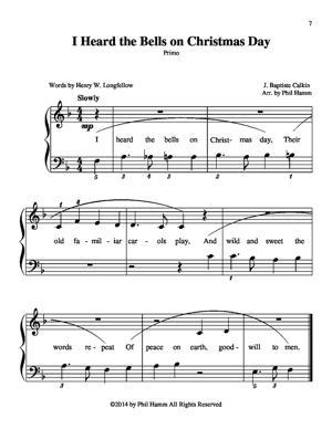 Sheet Music I Heard the Bells on Christmas Day