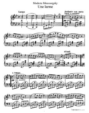 Sheet Music Une larme