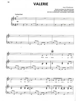 Sheet Music Amy Winehouse - Valerie