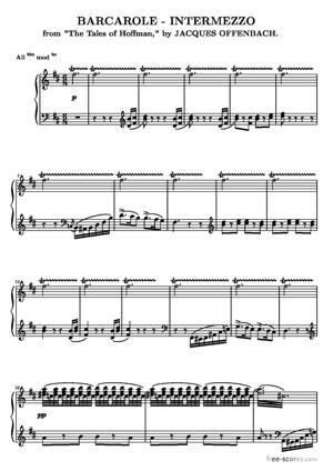 Sheet Music Les contes d'Hoffmann (The Tales of Hoffmann)