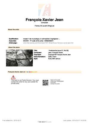 Sheet Music Vivebranche