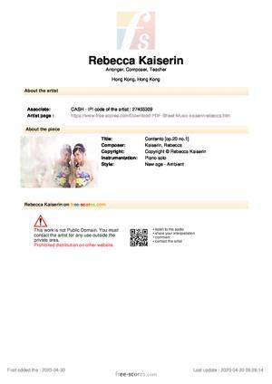 Sheet Music Contento