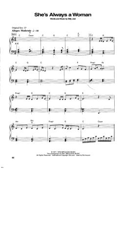 Sheet Music Billy Joel - She's Always A Woman