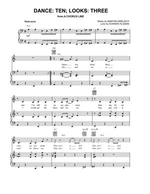 Sheet Music from A Chorus Line - Dance Ten Looks Three